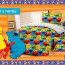 Sprei Elmo's Family