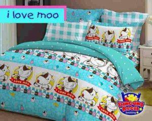 Sprei I Love Moo Biru
