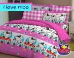 Sprei I Love Moo Pink