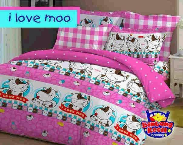 sprei-i-love-moo-pink