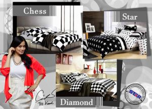 Sprei Star Black And White Series