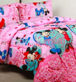 Sprei Mickey Minnie Valentine