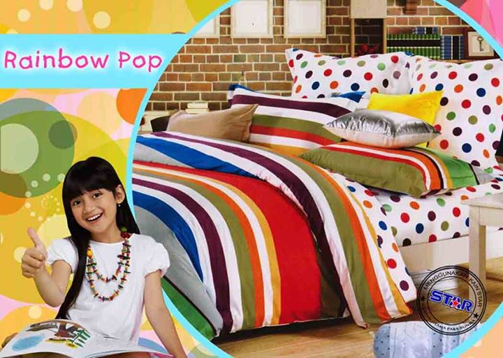 Sprei Rainbow Pop