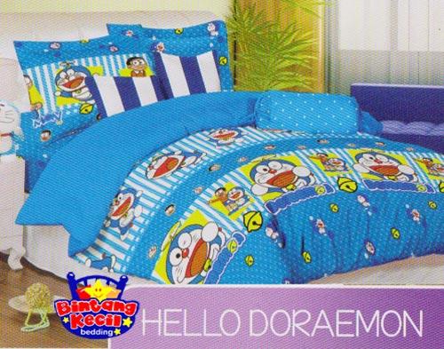 Sprei Bintang Kecil Hello Doraemon Biru