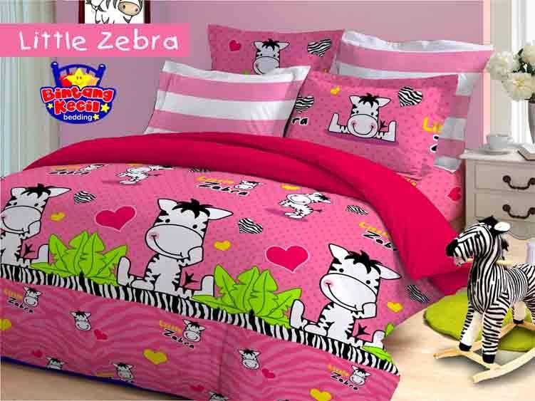 Sprei Bintang Kecil Little Zebra Pink