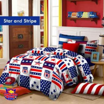 Sprei Bintang Kecil Star And Stripe