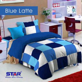 Sprei Star Blue Latte