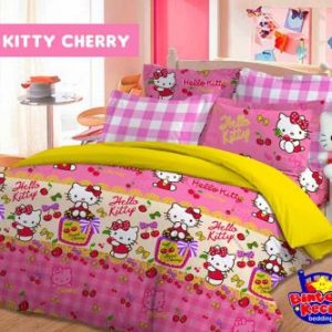 Sprei Star Kitty Cherry