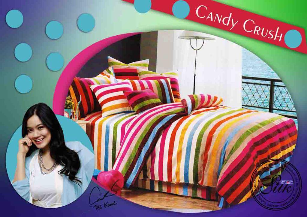 Sprei Star Silk Candy Crush