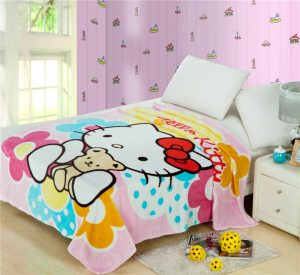 Selimut Bulu Hello Kitty R8