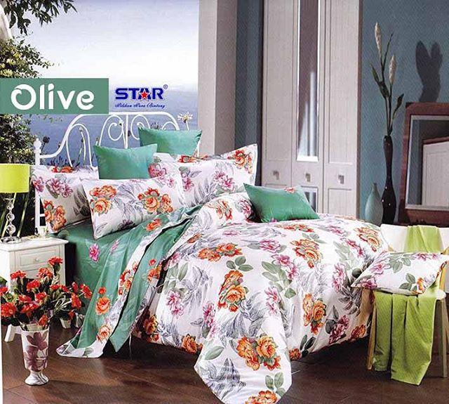 Sprei Star Olive