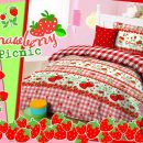 Sprei Star Strawberry Picnic
