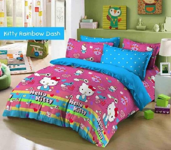 Sprei Kitty Rainbow Dash