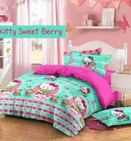 Sprei Star Kitty Sweet Berry