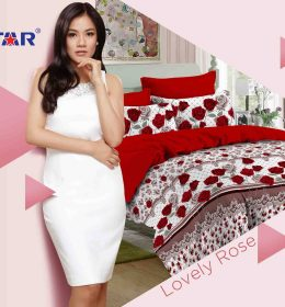 Sprei Star Lovely Rose