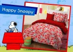 Sprei Star Bintang Kecil Happy Snoopy
