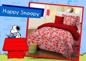 Sprei Star Bintang Kecil Happy Snoopy