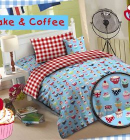 Sprei Star Cup Cake & Coffee