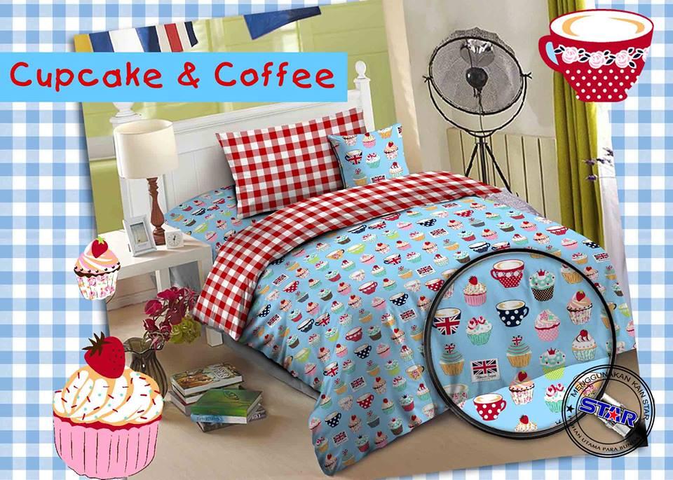 Sprei Star Cup Cake & Coffee