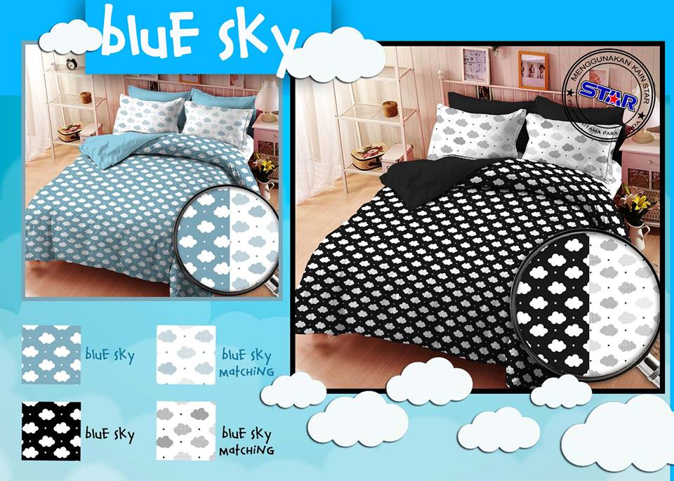 Sprei Star Blue Sky