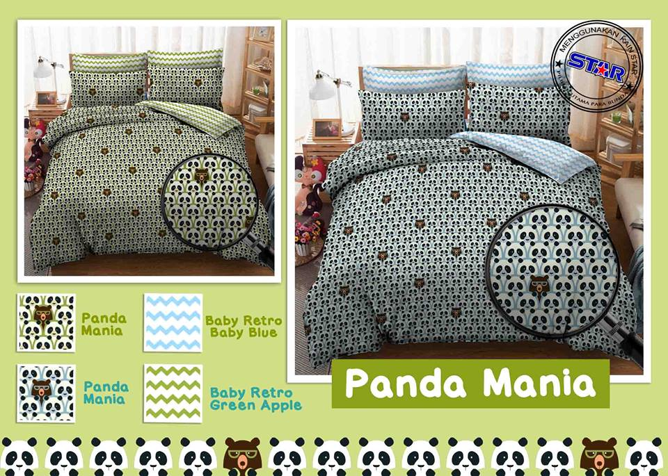 Sprei Star Panda Mania