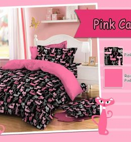 Sprei Star Pink Cat