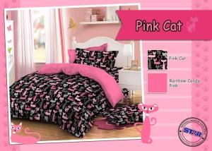 Sprei Star Pink Cat