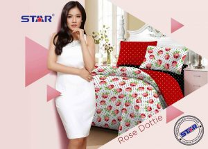 sprei-star-rose-dottie