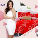Sprei Star Sakura Red