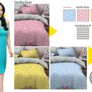 Sprei Star Vanilla Rose