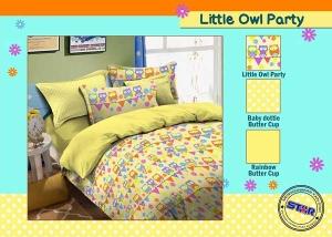Sprei Star Little Owl Party