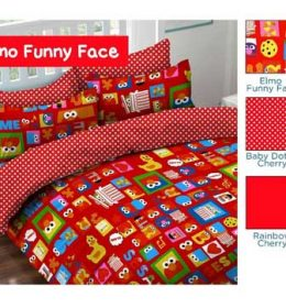 Sprei Star Elmo Funny Face