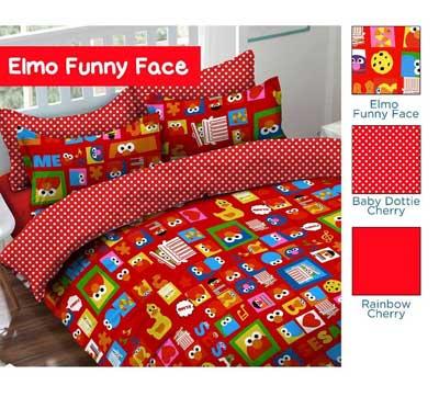 Sprei Star Elmo Funny Face