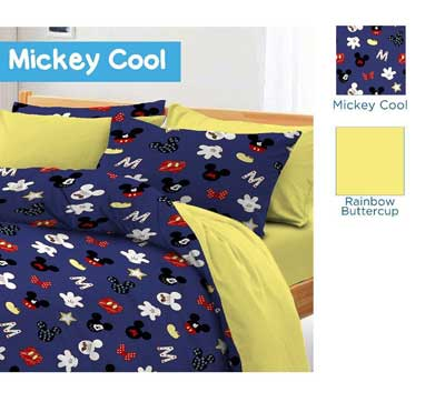 Sprei Star Mickey Cool Biru