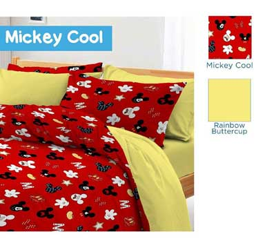 Sprei Star Mickey Cool Merah