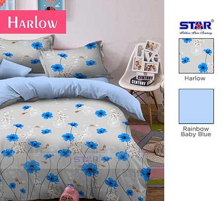 Sprei Star Harlow Biru