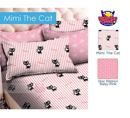 sprei-star-mimi-the-cat-pink