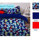 Sprei Star Smurf Family