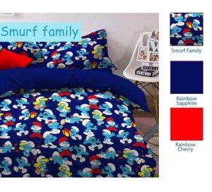 Sprei Star Smurf Family
