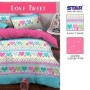 Sprei Star Love Tweet