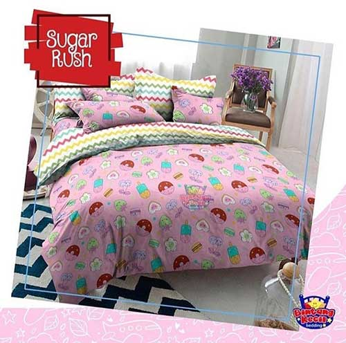 Sprei Star Sugar Rush Pink
