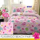 sprei-star-flamingo-beach-party-pink