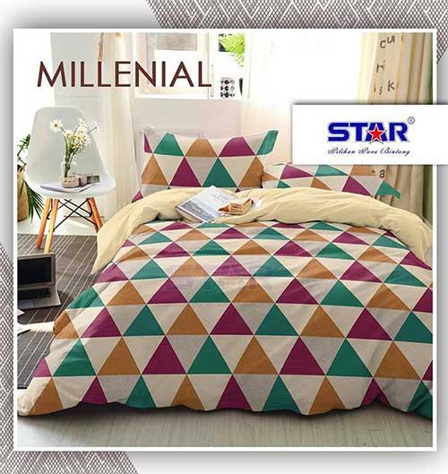 sprei-star-milenial-cream