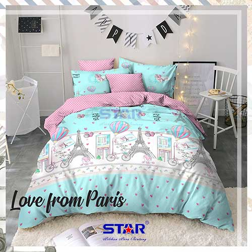 sprei-star-love-from-paris-biru