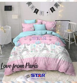 sprei-star-love-from-paris-pink