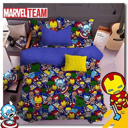 sprei-star-marvel-team-navy