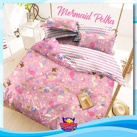sprei-star-mermaid-polka-pink