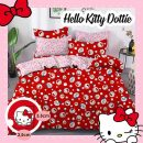 sprei-star-hello-kitty-dottie-merah