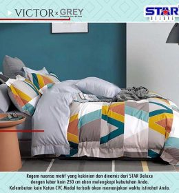 sprei-star-victor-x-grey